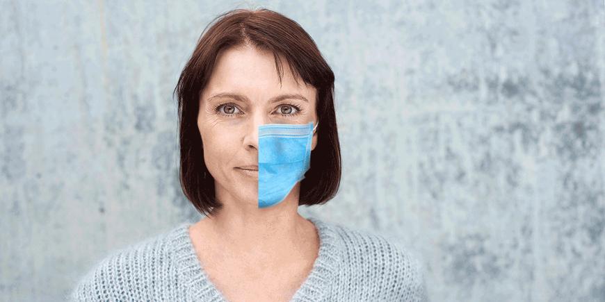 Ansteckungsquote meist rückläufig – mit oder ohne Maske